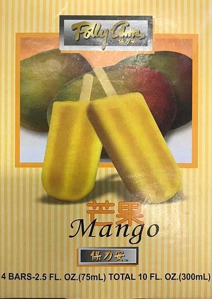 Polly Ann Mango Ice Bar UPC#7-00730-28866-1