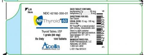 Photo 3: Labeling, NP Thyroid 60