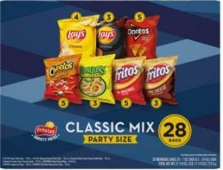 Photo 3 – Labeling, Classic Mix Party Size, contains 1 oz. individual bags of Lay's Barbecue Flavored Potato Chips