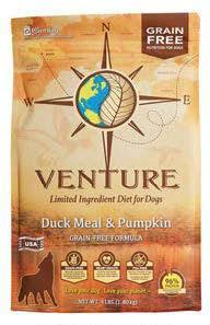 "Image 42. ""Venture Duck Meal & Pumpkin, front label"""