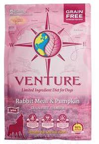 "Image 45. ""Venture Rabbit Meal & Pumpkin, front label"""