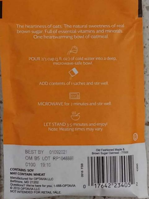 Back Label:  Cooking Instructions, Best By 01092021, Lot No. RP1048886