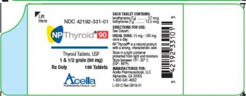 Photo 4: Labeling, NP Thyroid 90