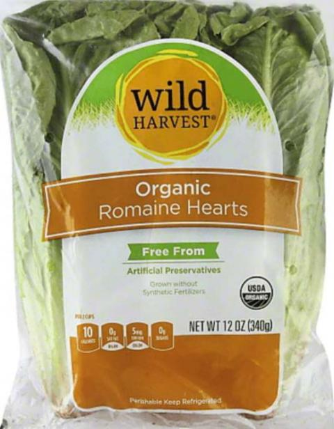 Front Package - Wild Harvest Organic Romaine Hearts
