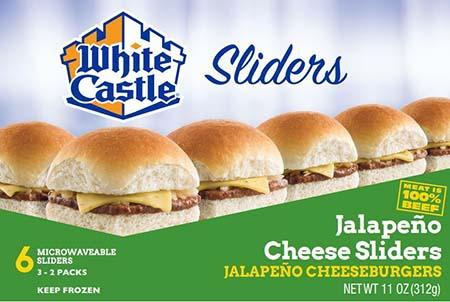 White Castle microwaveable 6 pack jalapeno cheeseburgers
