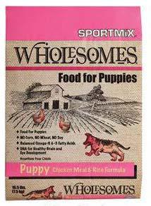 "Image 68. ""Sportmix Wholesomes Food for Puppies, Puppy Chicken Meal & Rice Formula, Front Label"""