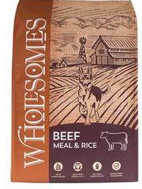 "Image 69. ""Wholesomes, Beef Meal & Rice, Front Label"""