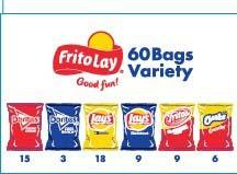 Photo 6 – Labeling, Frito Lay, 60 bags, contains 1 1/2 oz. individual bags of Lay's Barbecue Flavored Potato Chips