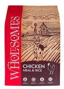 "Image 70. ""Wholesomes, Chicken Meal & Rice, Front Label"""