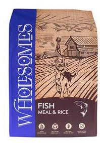 "Image 71. ""Wholesomes, Fish Meal & Rice, Front Label"""