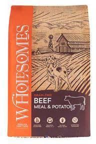 "Image 72. ""Wholesomes, Beef Meal & Potatoes, Front Label"""