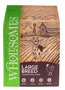 "Image 76. ""Wholesomes, Large Breed, Front Label"""