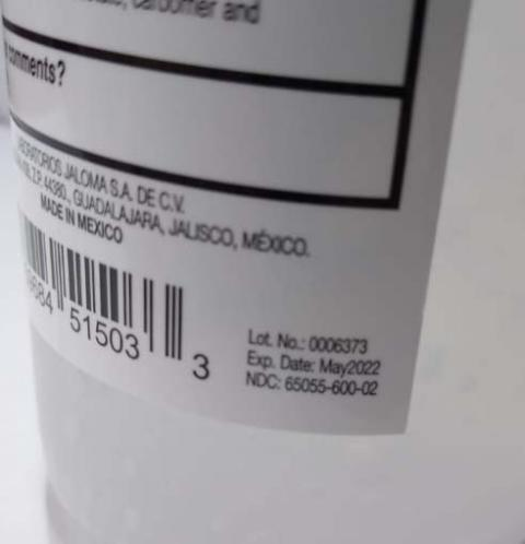 16.9 fl oz (1.06 pt)(500 mL) HPET plastic bottle Label & Expiration date