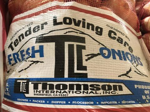 """Product label, Tender Loving Care mesh sack"""