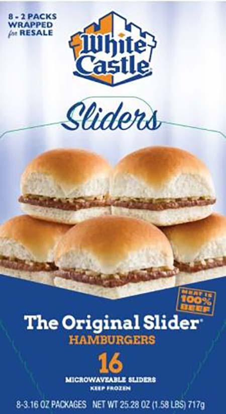 White Castle microwaveable 16 pack hamburgers