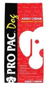 "Image 95. ""Pro Pac Dog, Adult Chunk, Front Label"""