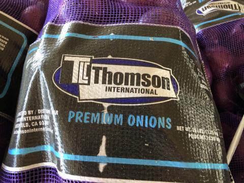 """Product label, TLC Thomson International 25 LBS mesh sack"""