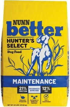 NUNN better, HUNTER'S SELECT, Dog Food MAINTENANCE