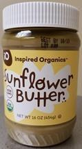 Inspired Organics, Organic Sunflower Butter, 16 oz., UPC 863669742526