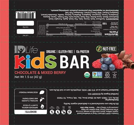 Label, Chocolate and Mixed Berry Kids Bar