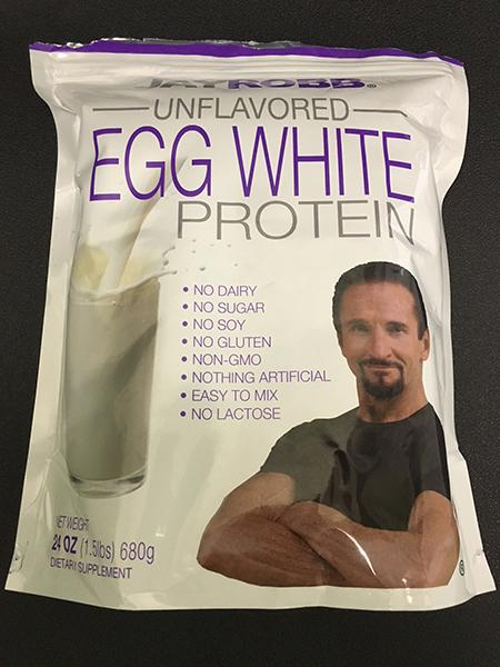 Label, Jay Robb Unflavored Egg White Protein