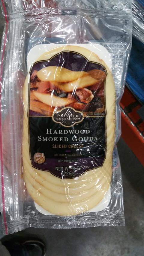 Label, Private Selections Hardwood Smoked Gouda Slice