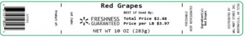 Label, Red Grapes 10 oz.