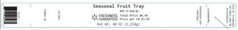 Label, Seasonal Fruit Tray, 40 oz.