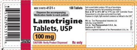 Label, Lamotrigine Tablets 100mg