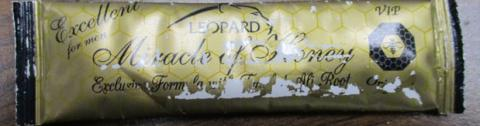 Leopard Miracle of Honey, sachet front label