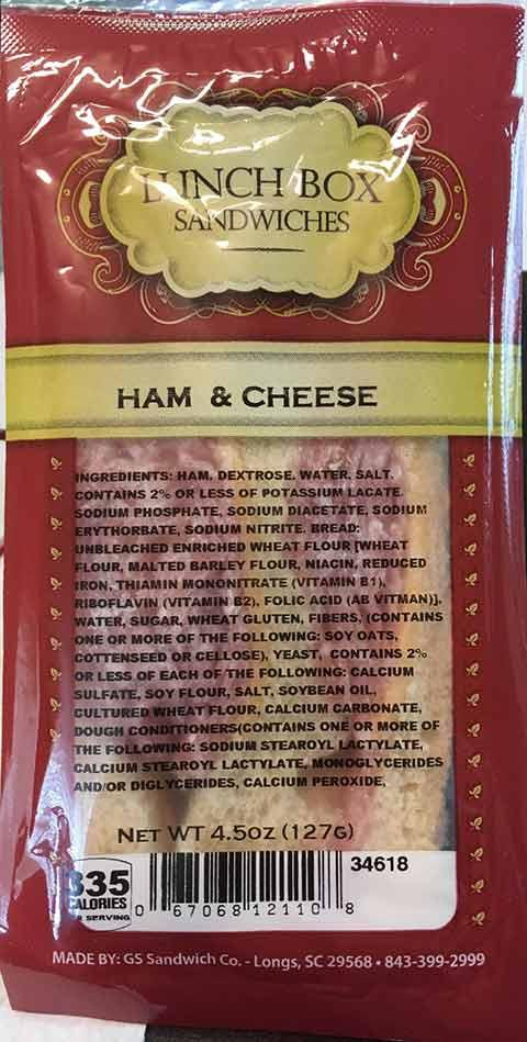 Lunch Box Sandwiches, Ham & Cheese, 4.5 oz