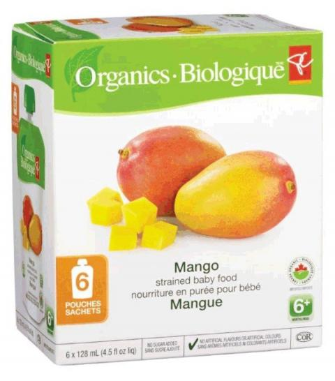 Mango - strained baby food - 6x128 millilitre