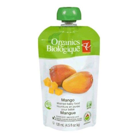 Mango - strained baby food