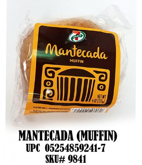 Mantecada (Muffin) UPC 05254859241-7 SKU# 9841