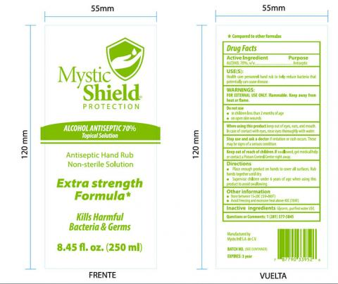 Mystic Shield Protection Topical Solution, front and back label