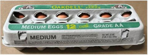 Oakdell carton of eggs