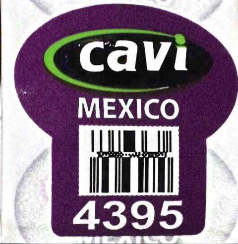 PLU Sticker on product: Cavi, MEXICO, 4395