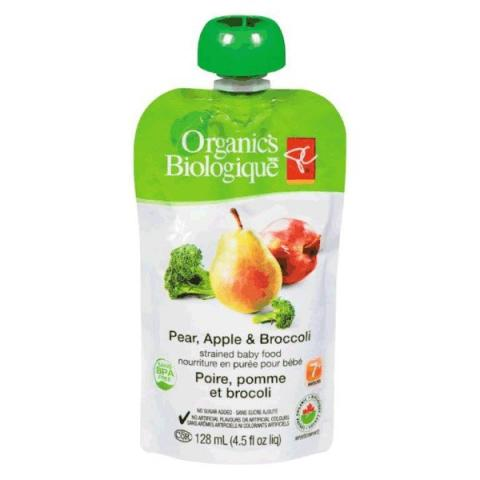 Pear, Apple and Broccoli - strained baby food