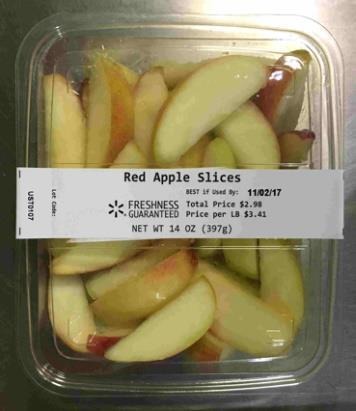 Picture of Red Apple Slices, 14 oz.