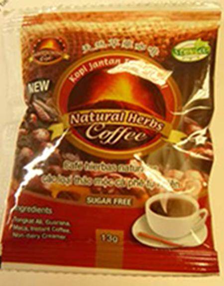 Picture of front label, Natural Herbs Coffee