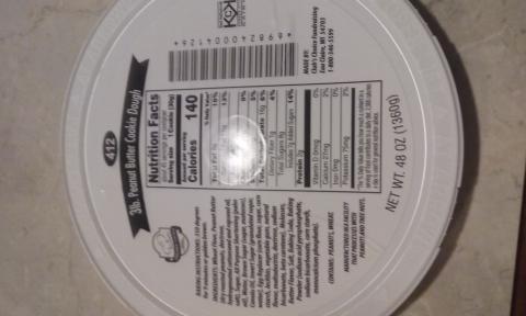 Photo 1: Labeling, 3lb. peanut butter cookie dough