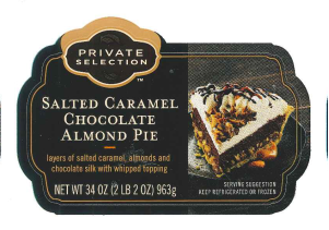 Private Selection Salted Caramel Chocolate Almond Pie, 34 oz