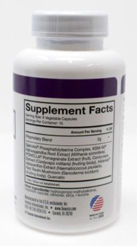 Product Image back, Supplement Facts Xenesta Nuvive Women's 90 count bottle
