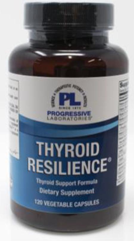 Product Image front, Progressive Laboratories Thyroid Resilience 120 count bottle
