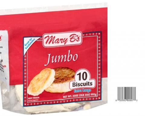 Product image and UPC 2059300007 MARY B'S JUMBO BUTTERMILK BISCUITS 35OZ.jpg