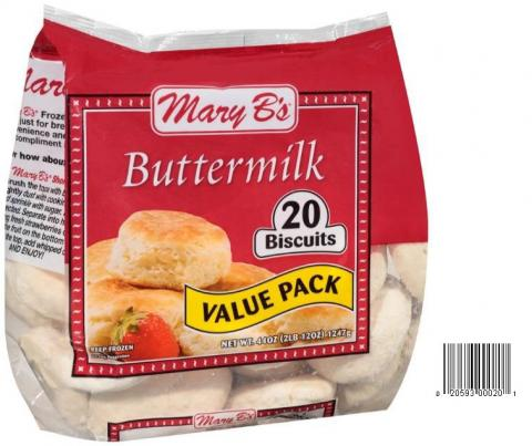 Product image and UPC 2059300020 MARY B'S BUTTERMILK VALUE PACK BISCUITS 44OZ.jpg