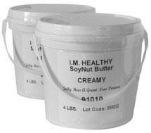 Product image, I.M Healthy Original Creamy SoyNut Butter , 4 lb plastic tubs