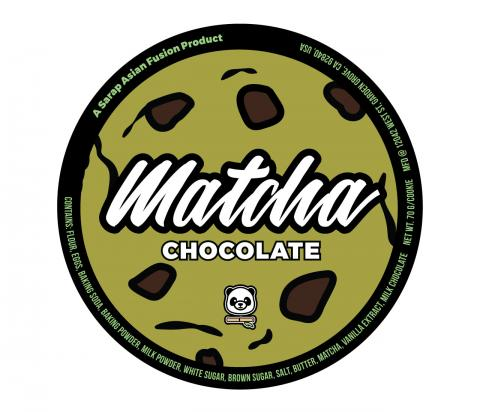 Product label, Sarap Asian Fusion Matcha Chocolate
