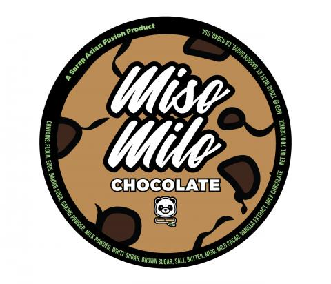 Product label, Sarap Asian Fusion Miso Milo Chocolate