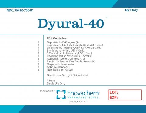 Product labeling Enovachem Pharmaceuticals Dyural-40